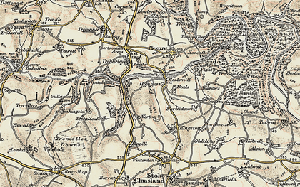 Old map of Bealsmill in 1899-1900