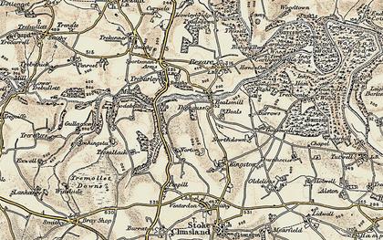 Old map of Wooda Bridge in 1899-1900