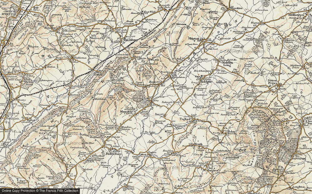 Old Map of Historic Map covering Balaam's Heath in 1902