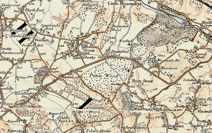 Old map of Beamond End in 1897-1898