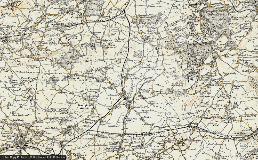 Old Map of Beanacre, 1898-1899 in 1898-1899