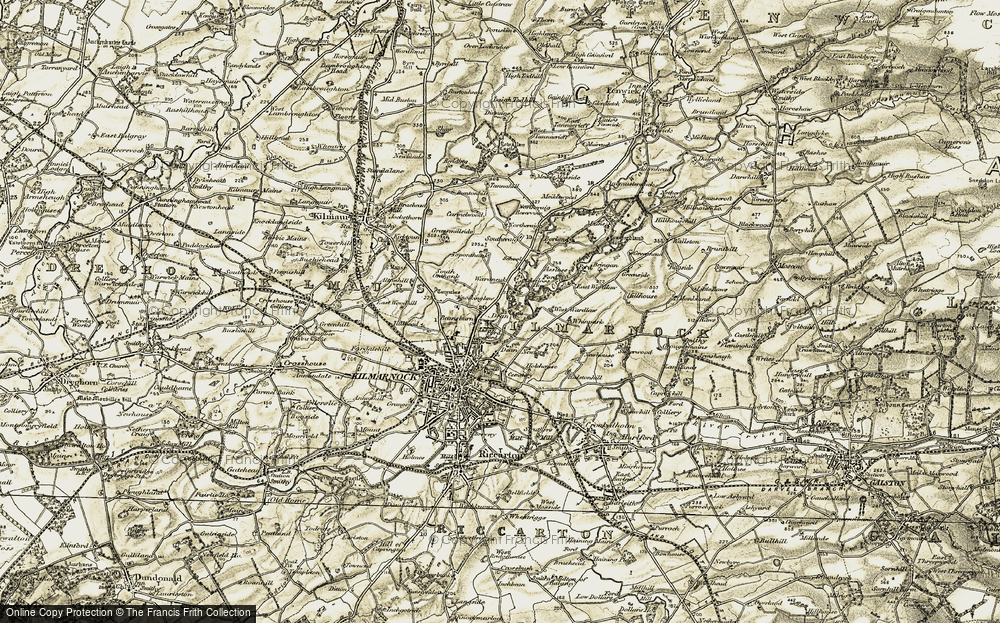 Old Map of Historic Map covering Assloss in 1905-1906