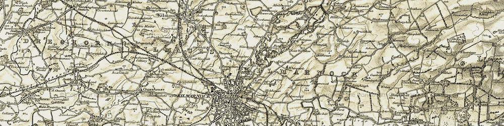 Old map of Whinpark in 1905-1906