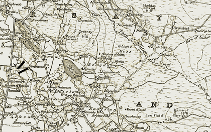 Old map of Beaquoy in 1912