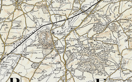 Old map of Killerton Park in 1898-1900
