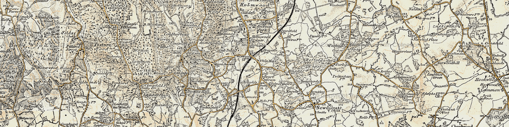 Old map of Wigmore in 1898-1909