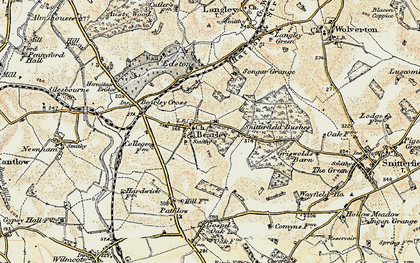 Old map of Bearley in 1899-1902