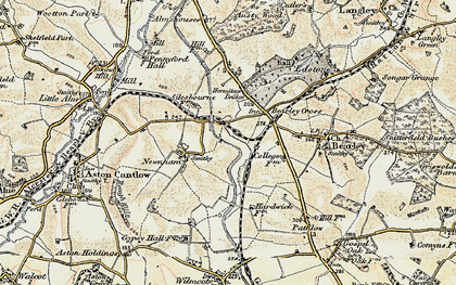 Old map of Bearley Cross in 1899-1902