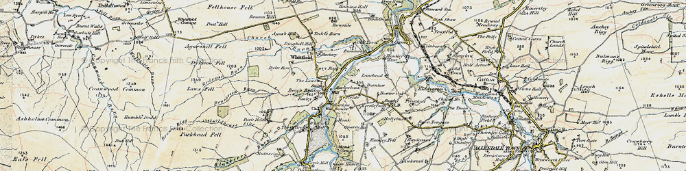 Old map of Westside in 1901-1904