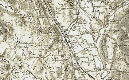 Old map of Annandale Way in 1901-1905