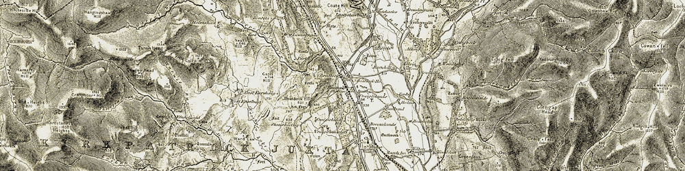 Old map of Wester Earshaig in 1901-1905