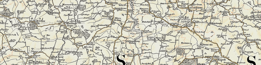 Old map of Whaypules in 1898
