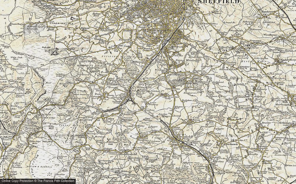 Old Map of Beauchief, 1902-1903 in 1902-1903