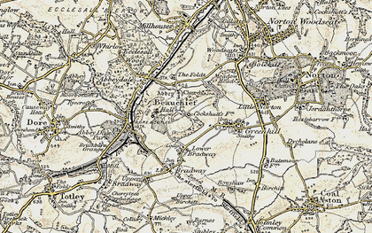 Old map of Beauchief in 1902-1903