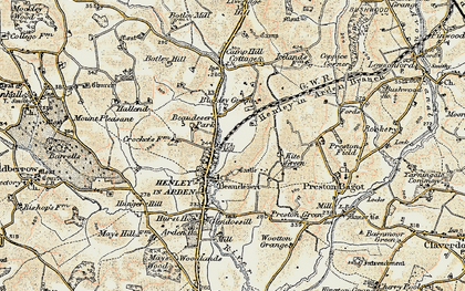 Old map of Beaudesert in 1901-1902