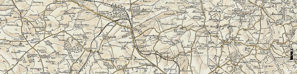 Old map of Alderford in 1900
