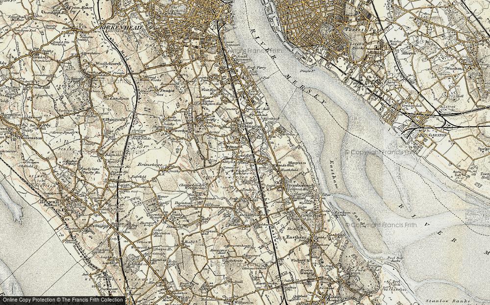 Old Map of Bebington, 1902-1903 in 1902-1903