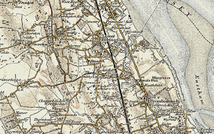 Old map of Bebington in 1902-1903