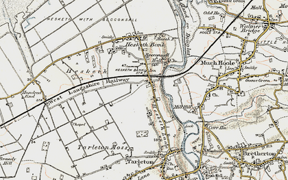 Old map of Becconsall in 1902-1903