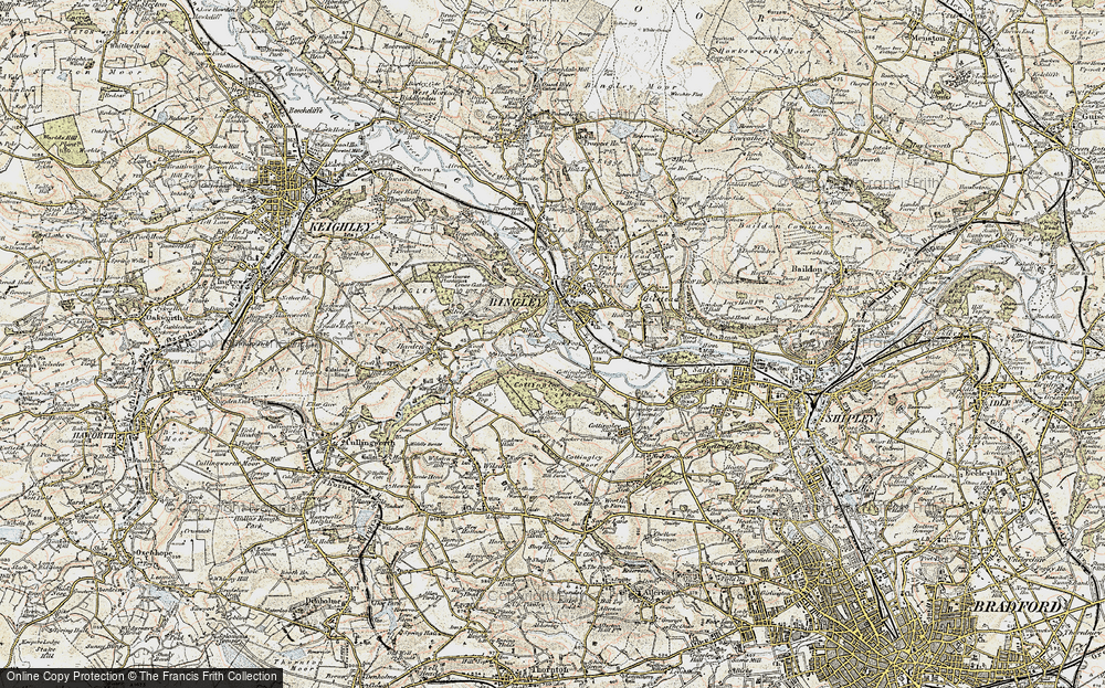 Old Map of Historic Map covering Wood Bank in 1903-1904