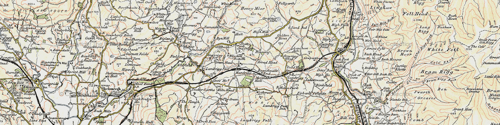 Old map of Wythmoor in 1903-1904