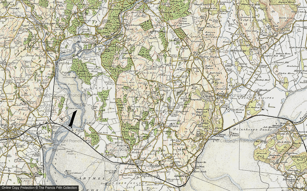Old Map of Historic Map covering Wood Broughton in 1903-1904