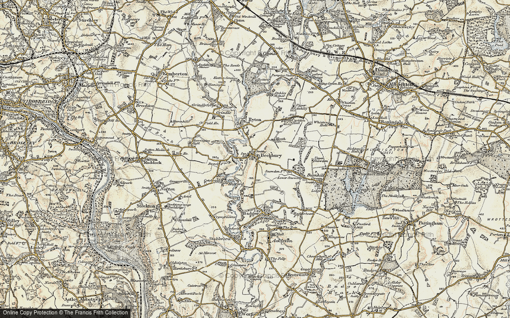 Old Map of Beckbury, 1902 in 1902