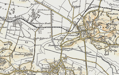 Old map of Beckery in 1898-1900