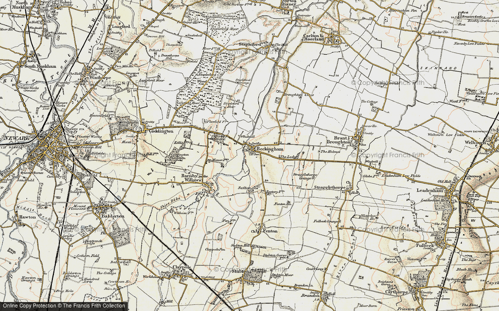 Old Map of Beckingham, 1902-1903 in 1902-1903