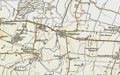 Old map of Beckingham in 1902-1903