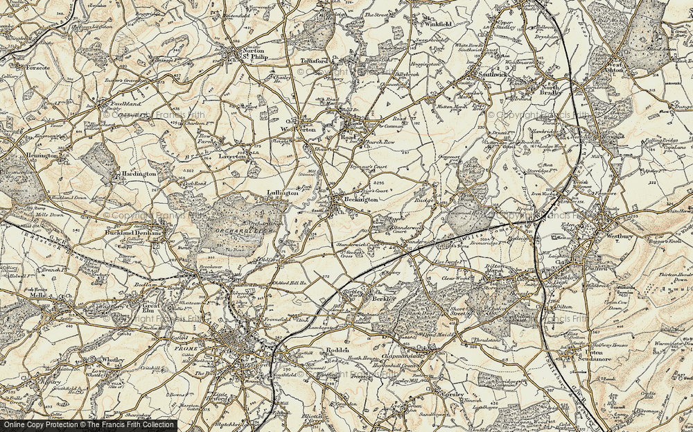 Old Map of Beckington, 1898-1899 in 1898-1899