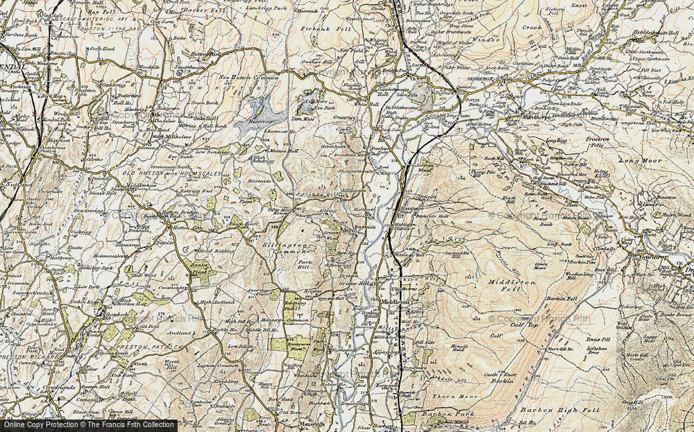 Old Map of Historic Map covering Aikrigg in 1903-1904