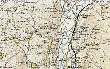 Old map of Aikrigg in 1903-1904