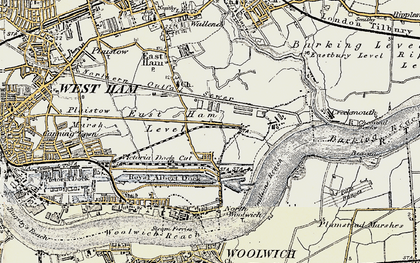 Old map of Beckton in 1897-1902