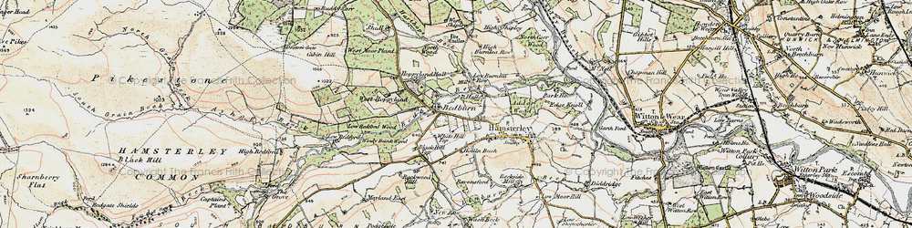 Old map of Windy Bank in 1904