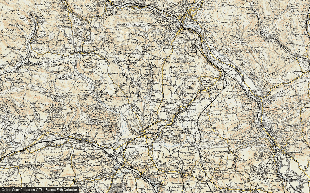 Old Map of Beddau, 1899-1900 in 1899-1900