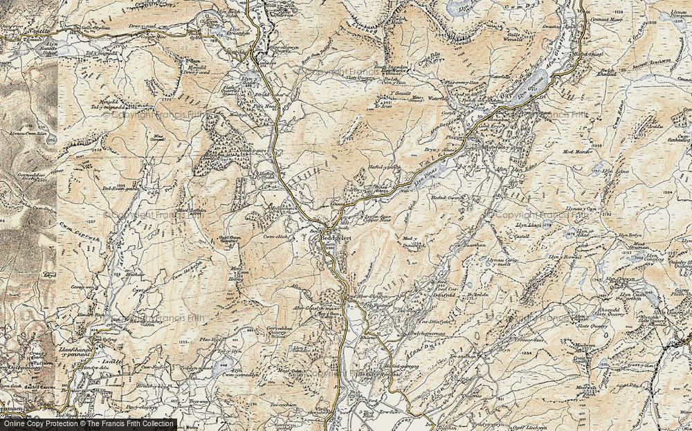 Old Map of Beddgelert, 1903 in 1903
