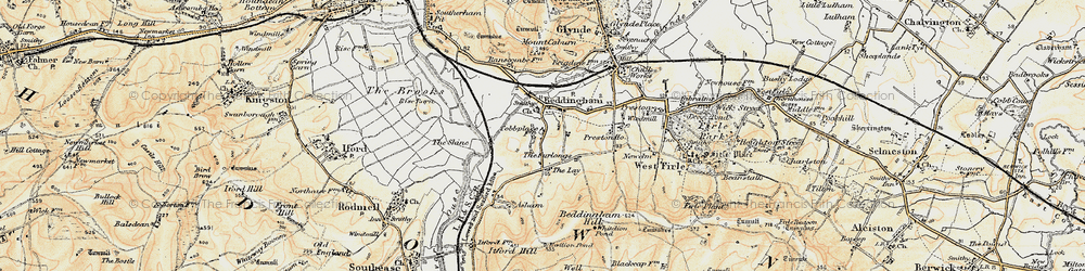 Old map of White Lion Pond in 1898