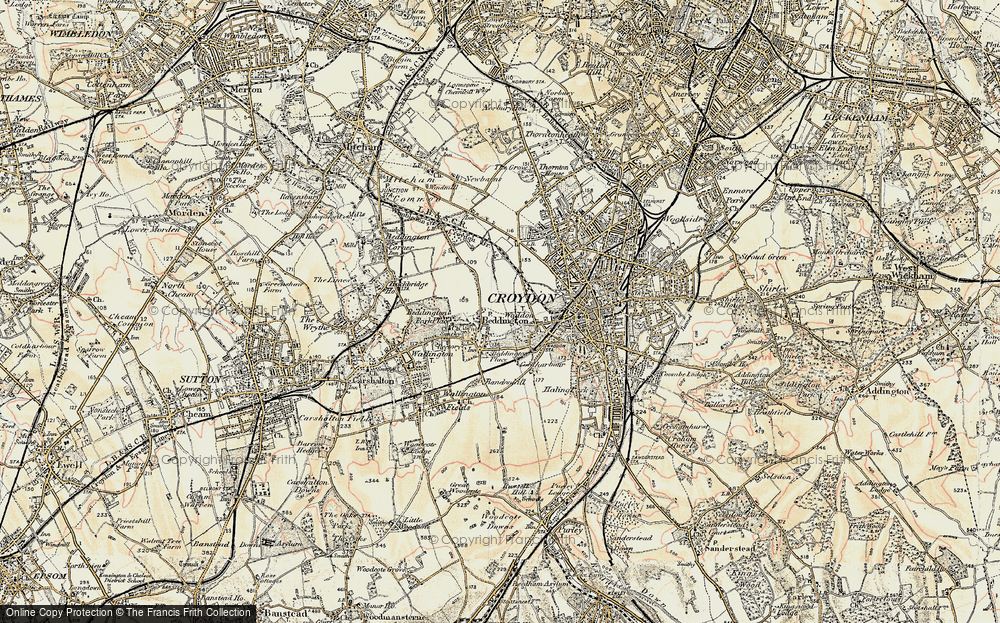 Old Map of Beddington, 1897-1902 in 1897-1902
