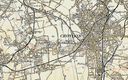 Old map of Beddington in 1897-1902