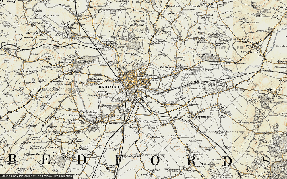 Map Of Bedford Map of Bedford, 1898 1901   Francis Frith