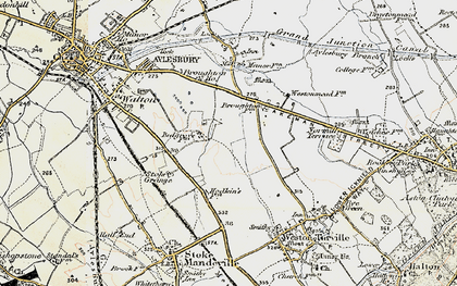 Old map of Bedgrove in 1898