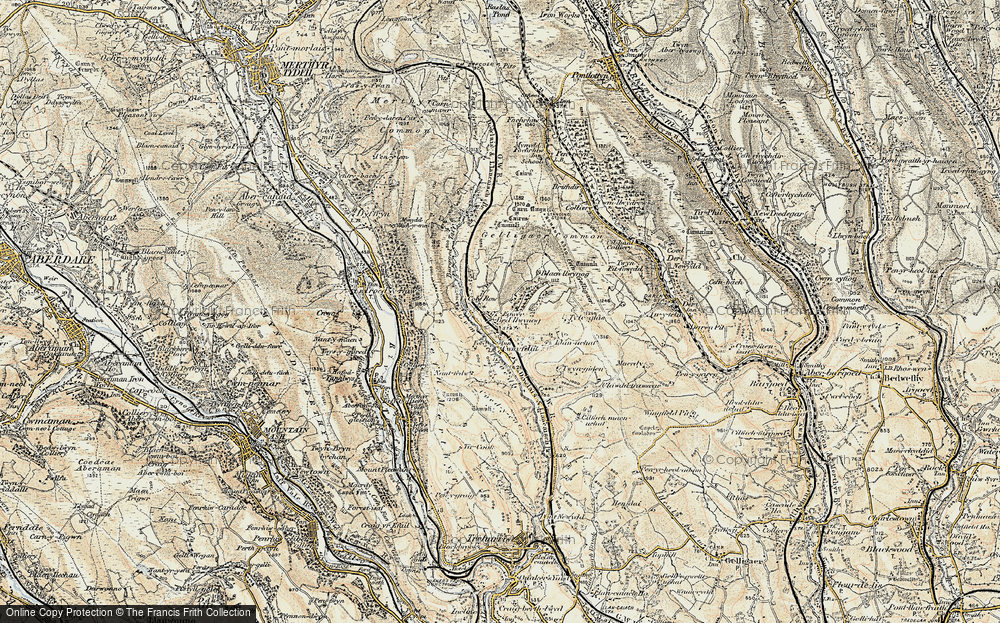 Old Map of Bedlinog, 1899-1900 in 1899-1900