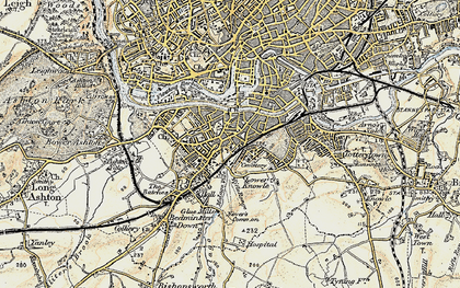 Old map of Bedminster in 1899
