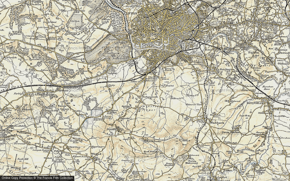 Old Map of Bedminster Down, 1899 in 1899