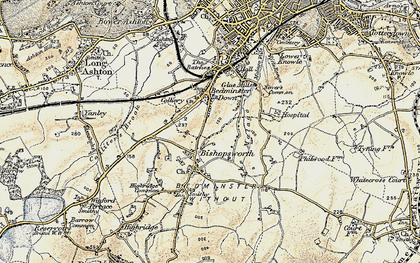 Old map of Bedminster Down in 1899