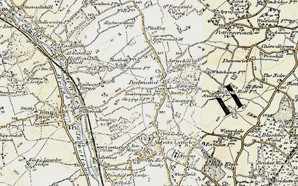 Old map of Bedmond in 1897-1898
