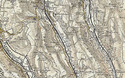 Old map of Bedwellty Pits in 1899-1900
