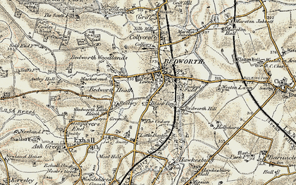 Old map of Bedworth in 1901-1902