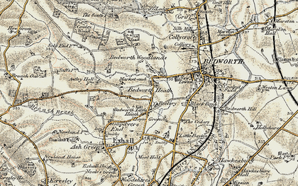 Old map of Bedworth Heath in 1901-1902